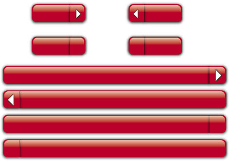 Red buttons and bars Vector illustration