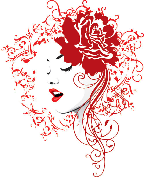 Rose Red Vector Illustration