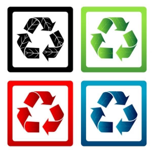 Set of Vector Recycle Symbols illustration