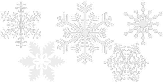 Snowflakes Free Vector illustration