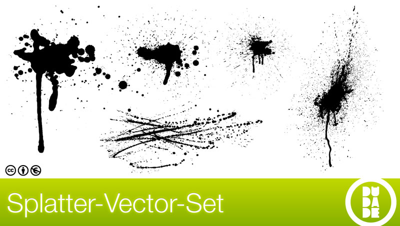 Splatter Vector Set illustration