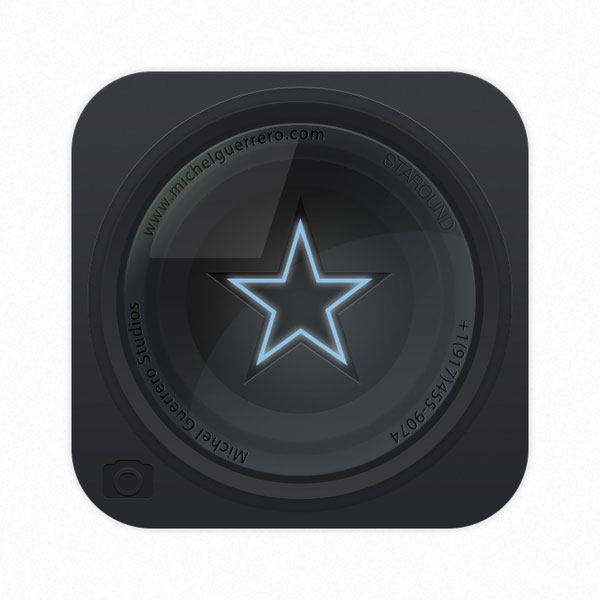 Star Lens Icon Vector illustration