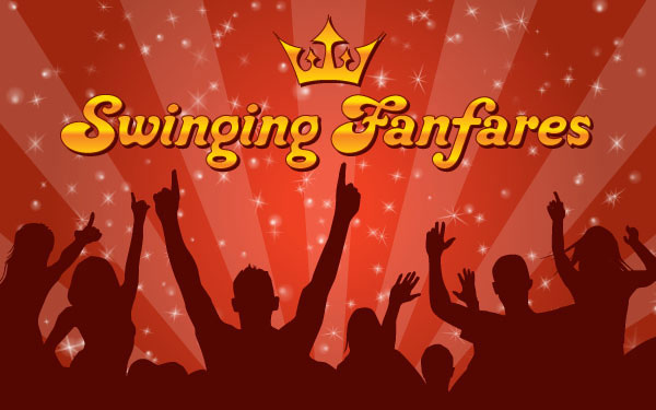Swinging Funfares Wallpaper Vector illustration