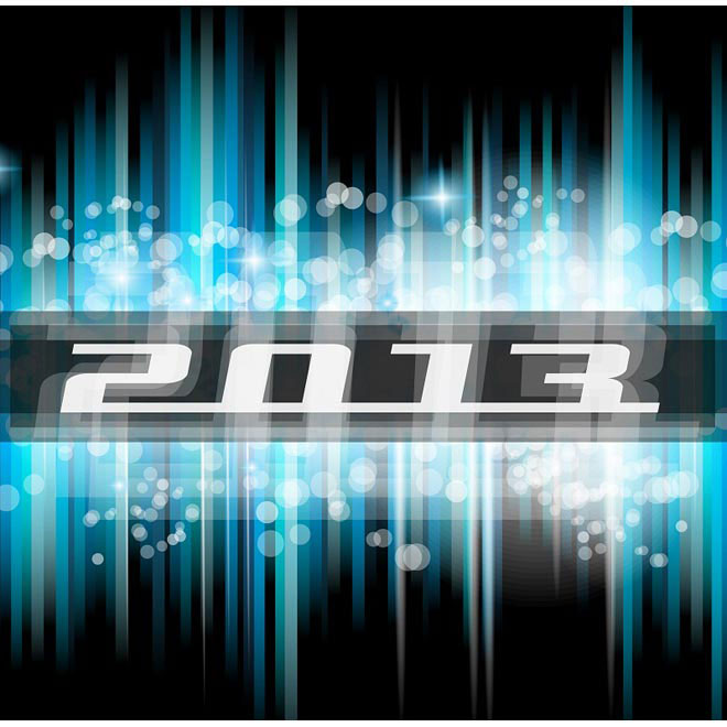 Technology Fast 2013 New Year poster Design Vector illustration