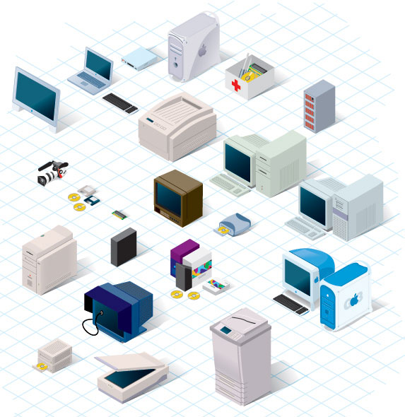 Technology Vector Pack from the 90s  illustration