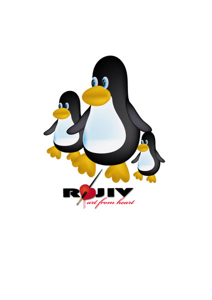 Toon Penguin Vector illustration