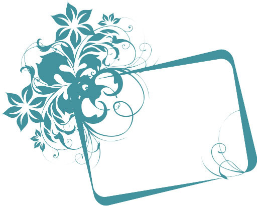 Turquoise frame Vector  Illustration