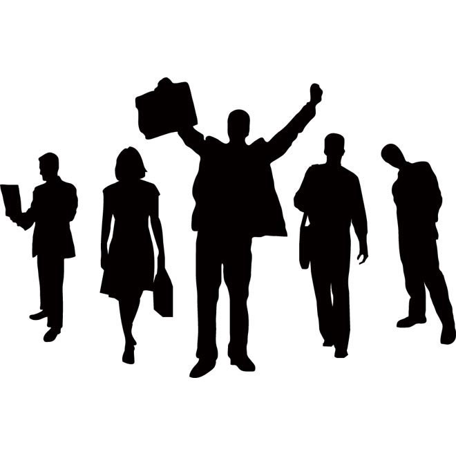 Vector Business people clip art illustration