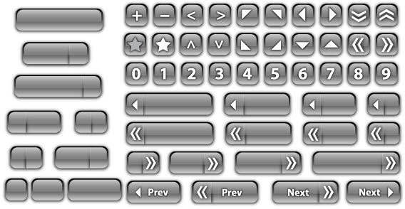 Vector Glass Buttons illustration