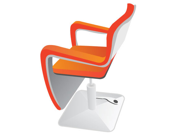 Vector Hairdressing Seat illustration