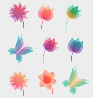 Vector Pastel nature elements