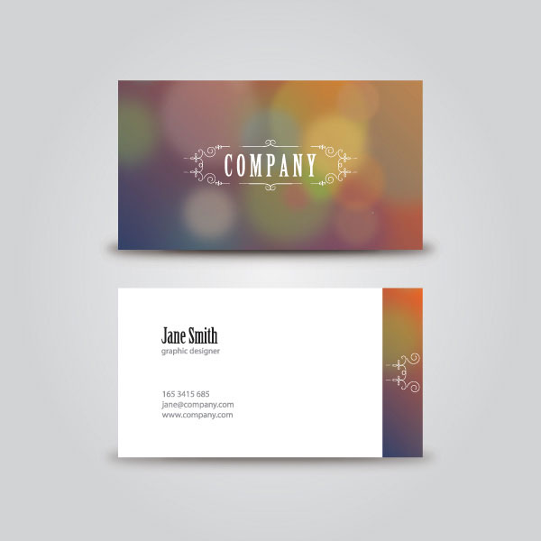 Vintage Business Card Vector Illustration