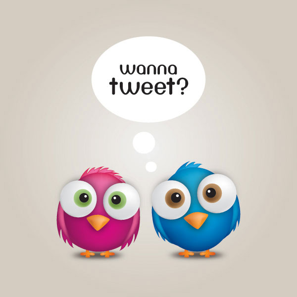 Wanna Tweet Vector Illustration