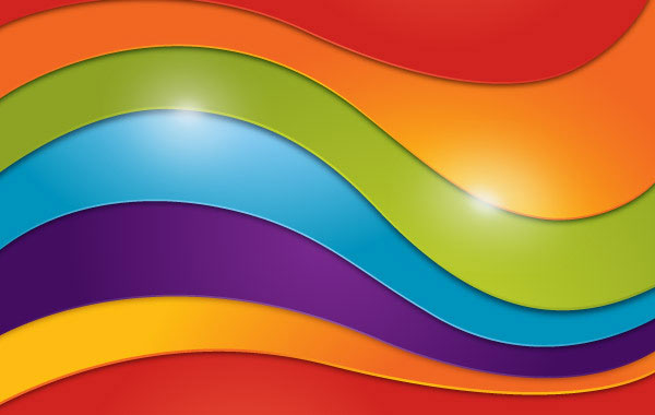 Wavy Rainbow Background illustration