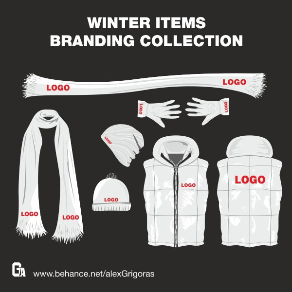 Winter Items Vector Collection illustration