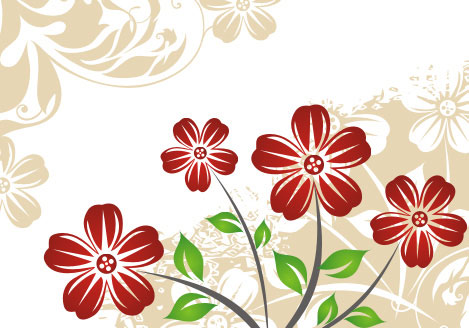Winter flowers Vector Illustration