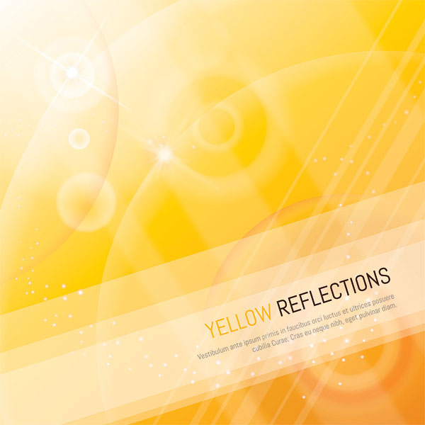 Yellow Reflections Vector Illustration