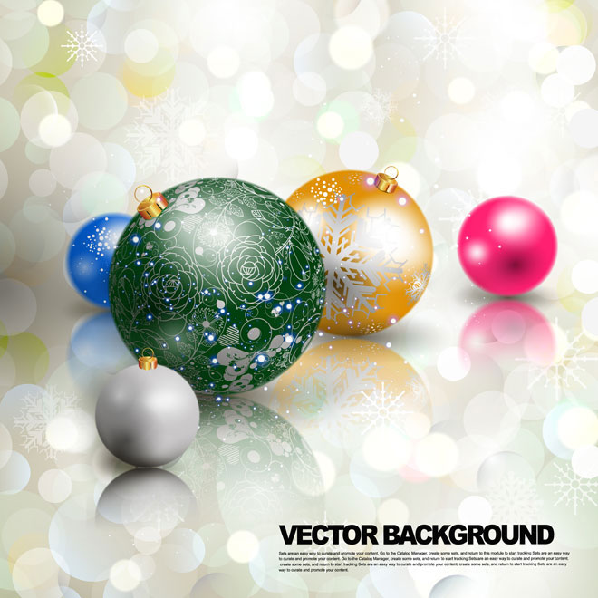 abstract glowing 3d Christmas floral art pattern ball Vector illustration