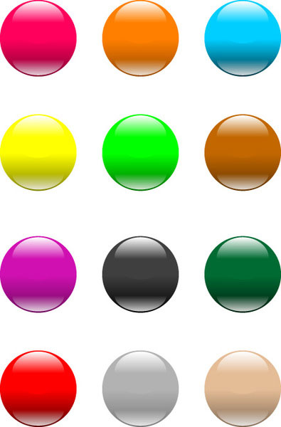 aqua button like apple illustration