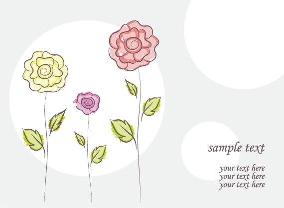 free vector flower doodles illustration